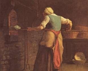 Женщина печет хлеб — Жан-Франсуа Милле