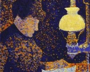 Woman by a lamp — Поль Синьяк