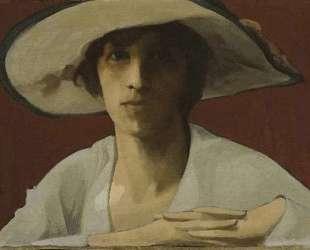 Woman in white — Теофрастос Триантафиллидис