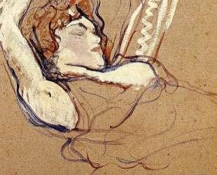 Woman Lying on Her Back, Both Arms Raised — Анри де Тулуз-Лотрек