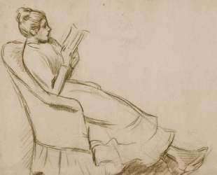 Woman on an armchair — Федерико Дзандоменеги