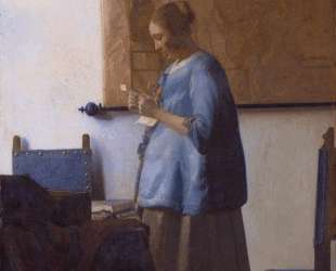 Woman reading a letter (Woman in Blue Reading a Letter) — Ян Вермеер
