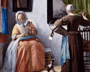 Woman Reading a Letter — Габриель Метсю