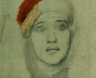 Woman's Head (Emily L. Prahova) — Михаил Врубель