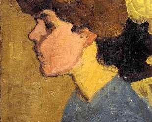 Голова женщины в профиль — Амедео Модильяни