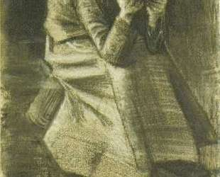 Woman Sitting on a Basket with Head in Hands — Винсент Ван Гог