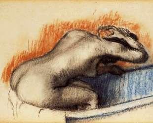 Женщина моется в ванной — Эдгар Дега