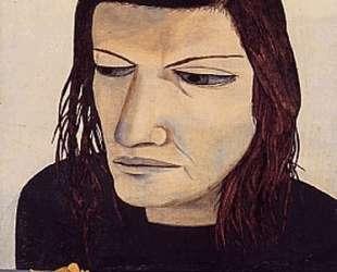 Женщина с нарциссом — Люсьен Фрейд