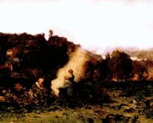 Лесной пожар — Шарль-Франсуа Добиньи