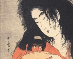 Yamanba and kintaro sakazuki — Китагава Утамаро