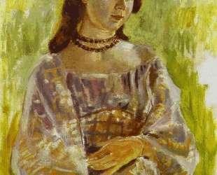 Девушка с ожерельем — Виктор Борисов-Мусатов