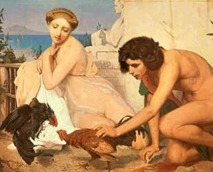 Young Greeks Encouraging Cocks to Fight — Жан-Леон Жером