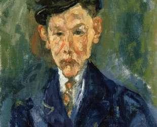 Young Man Wearing a Small Hat — Хаим Сутин