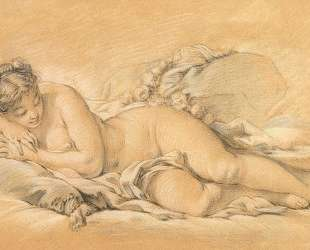 Спящая девушка — Франсуа Буше