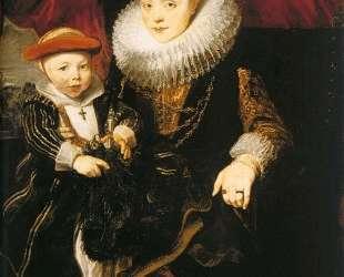 Молодая женщина с ребенком — Антонис ван Дейк
