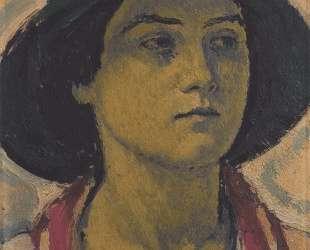 Young woman with hat — Коломан Мозер