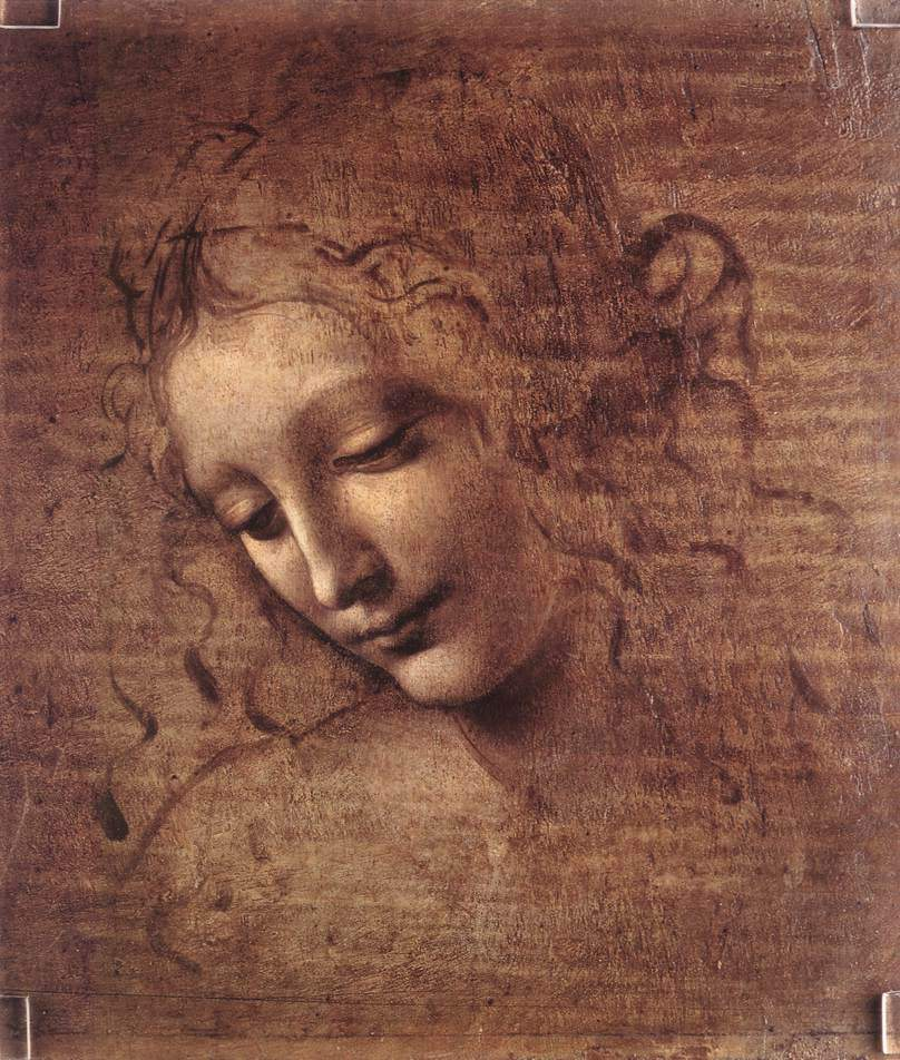 Head of a Young Woman with Tousled Hair (Leda) — Леонардо да Винчи