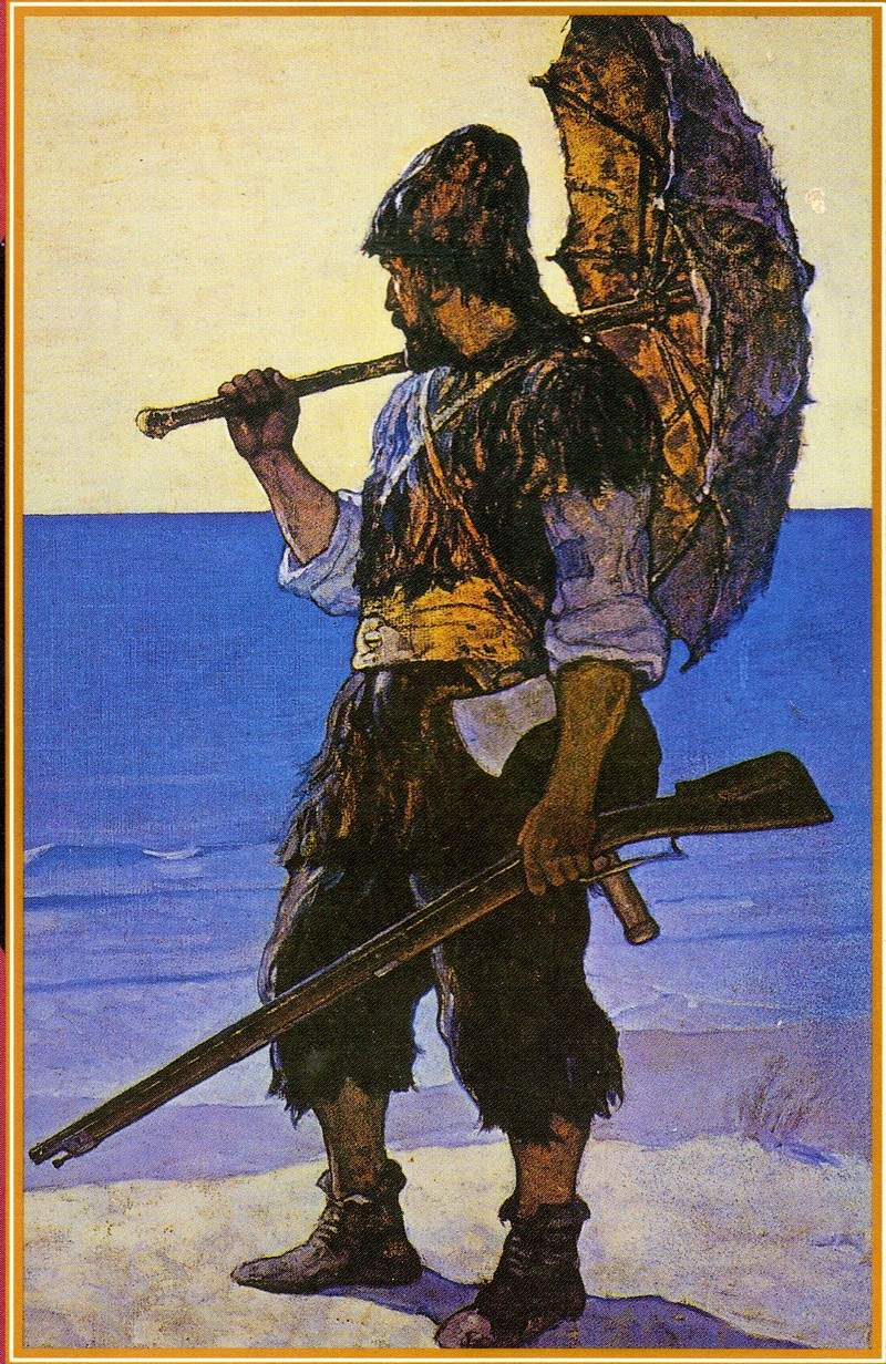 an analysis of setting in the novel robinson crusoe Robinson crusoe, as a young and impulsive wanderer, defied his parents and went to sea he was involved in a series of violent storms at sea and was warned by t.