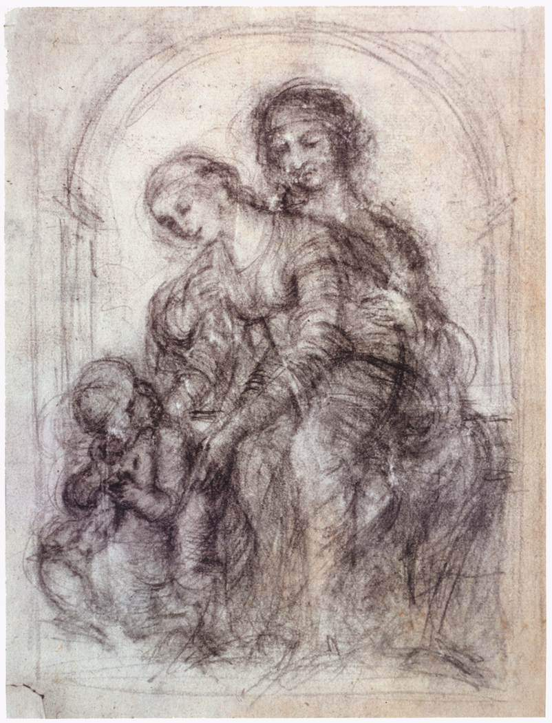 Study for St. Anne — Леонардо да Винчи