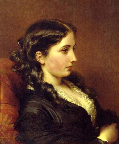 Study of a Girl in Profile — Франц Ксавер Винтерхальтер