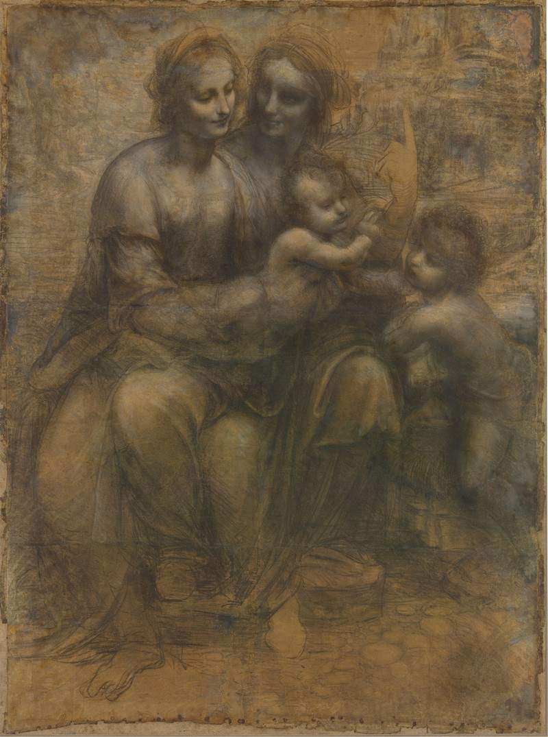 The Virgin and Child with Saint Anne and Saint John the Baptist — Леонардо да Винчи