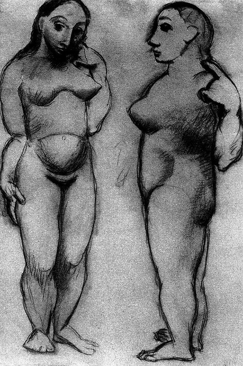 Two naked women — Пабло Пикассо