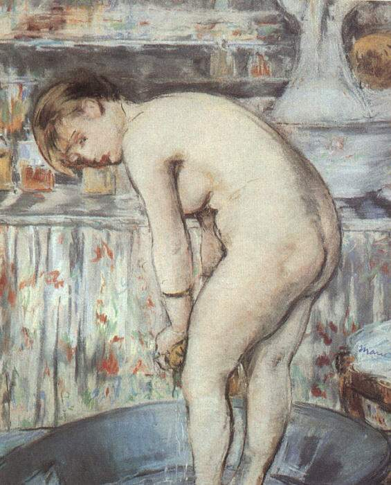 Woman in a tub — Эдуард Мане