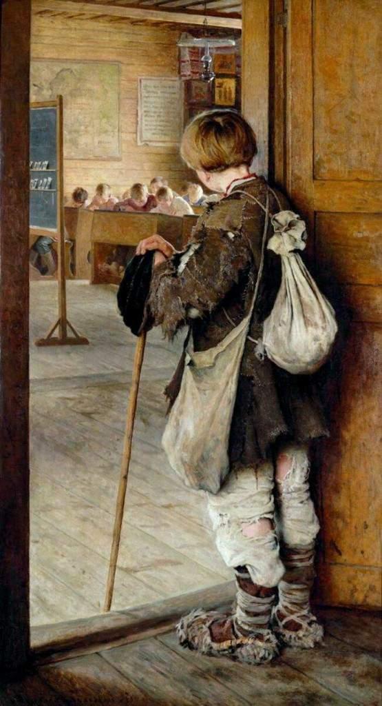 «На пороге школы» 1897