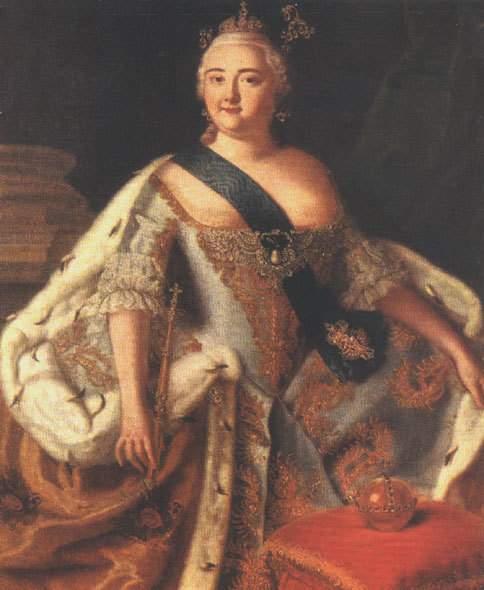 Портрет императрицы Елизаветы Петровны. Между 1744 и 1751