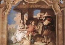 Анджелика и Медор у пастухов . 1757