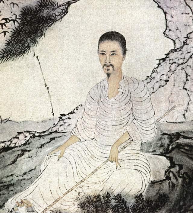 Автопортрет с бамбуком и сосной