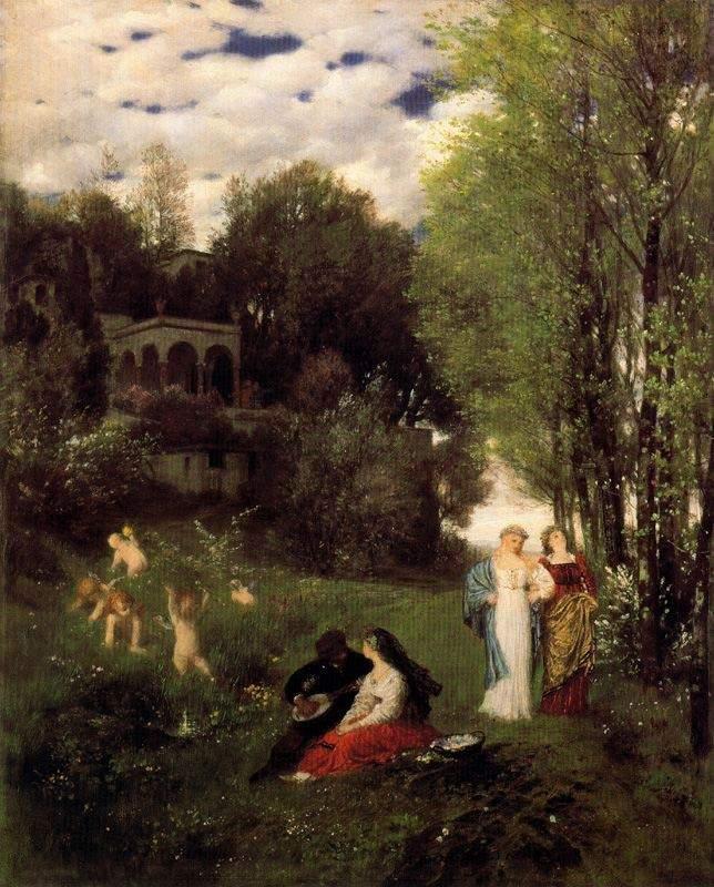 Ideal spring landscape 1871
