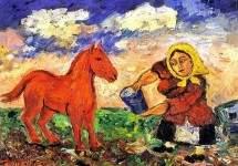 Крестьянка и лошадь