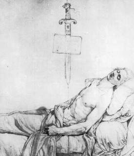 Лепелетье де Сен-Фаржо на смертном одре