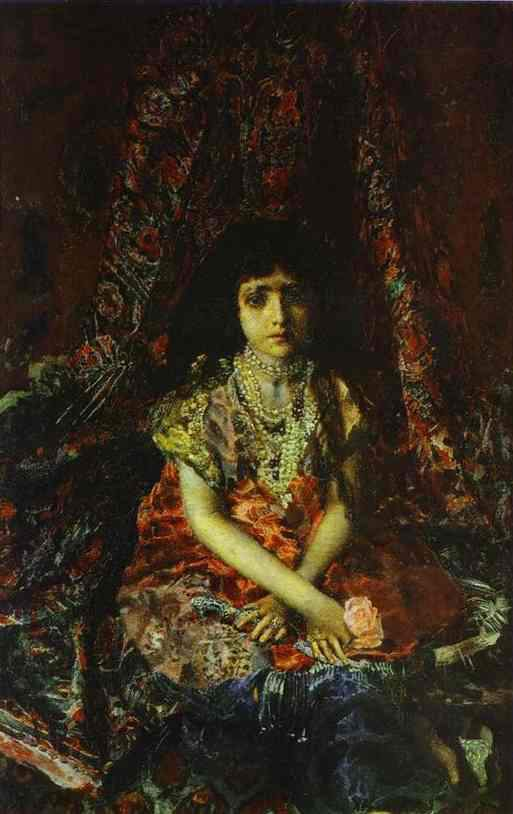 Portrait of a Girl against a Persian Carpet