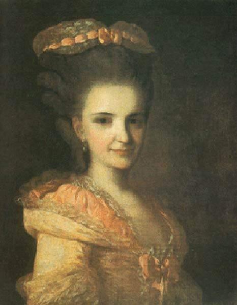 Портрет неизвестной в розовом платье. 1770-е гг
