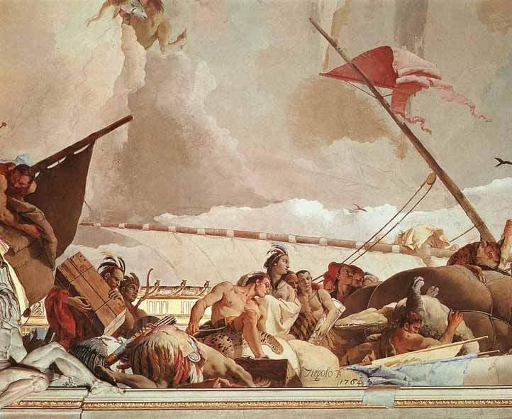 Слава Испании . 1762—66. Фрагмент