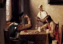 Солдаты, играющие в карты