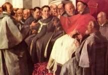Св. Бонавентура принимает посланцев императора. 1640-1650
