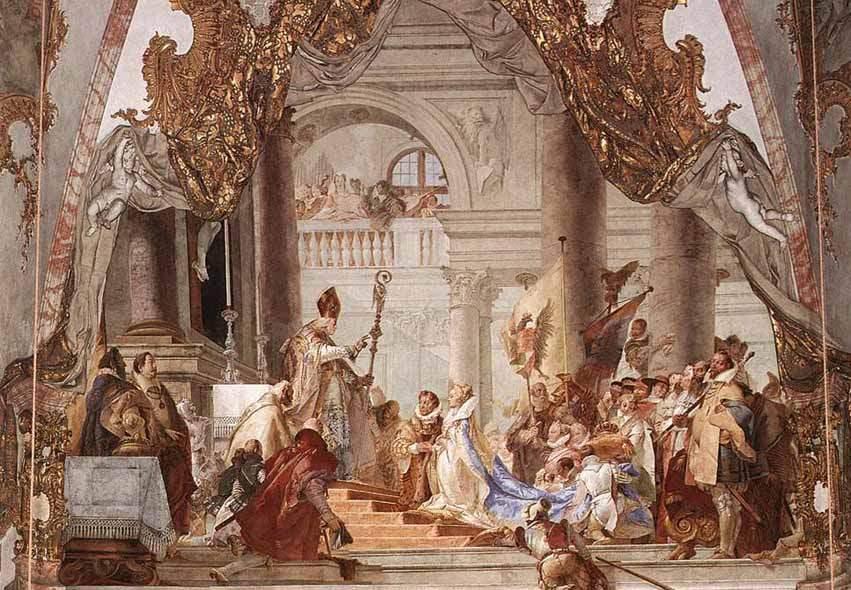 Свадьба императора Фридриха Барбароссы и Беатрисы Бургундской . 1750—53
