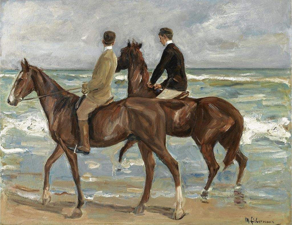 Two Riders On The Beach 1901
