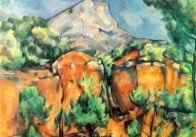 Вид горы Сент-Виктуар из карьера Бибемю. 1897 г