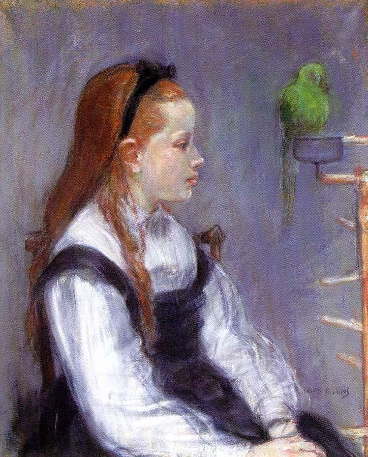 Young-Girl-with-a-Parrot
