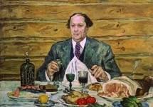 А. Н. Толстой в гостях у художника.