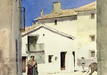 A Street in Denia, Spain 1883