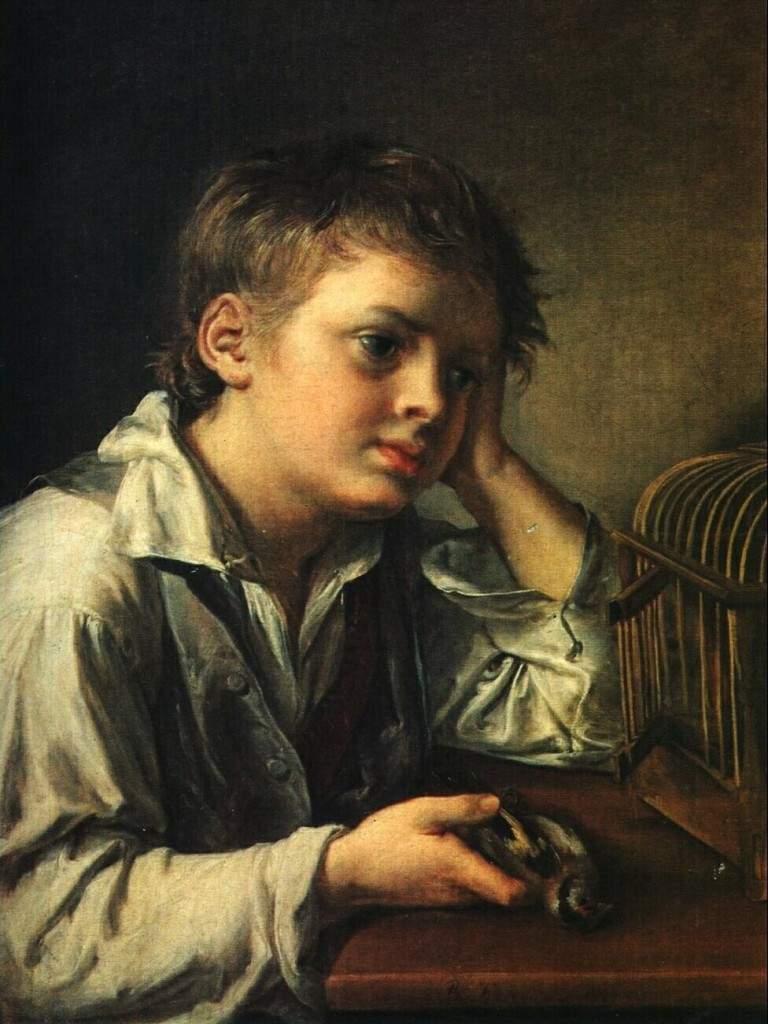 «Мальчик, тоскующий об умершей своей птичке» 1829