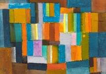 Composition in Orange and Blue-Green 1957