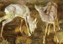 Deer at Dusk 1909