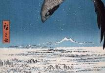 Eagle Over 100,000 Acre Plain at Susaki, Fukagawa (Juman-tsubo) 1857