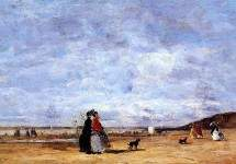 Elegant Women on the Beach 1863